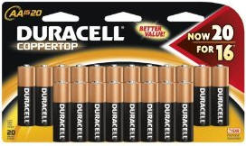Duracell Alkaline Batteries - 20 pack