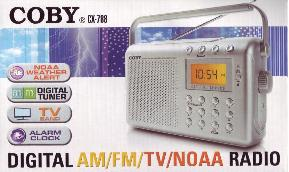 COBY Weather Alert Radio packaging