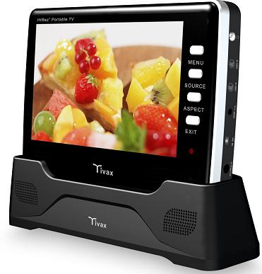 Tivax HiRez7 Battery Powered TV with Optional Docking Station