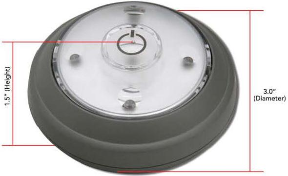 "Wireless round ""puck"" style battery operated LED lights"